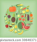 vector, icon, fruit 30646371