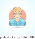 Hipster, designer, student icon. 30646386