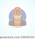 Miner, worker icon. 30646391