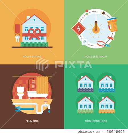 Construction flat concept illustrations 30646403