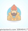 Fisherman, sailor icon. 30646417