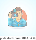 Photographer, camera man icon. 30646434