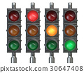 Traffic lights isolated on white background. 30647408