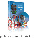 Highway code book and disk.  Book of traffic rules 30647417