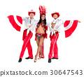 samba dancer team dancing isolated on white 30647543