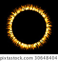 Round fire frame. Fire eclipse or fire swirl 30648404