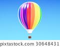 Hot air balloon, aerostat in the blue sky 30648431