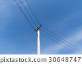 Pole with powerlines 30648747