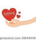 heart, hand, giving 30649446