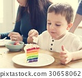 Eating Rainbow Cake Birthday Delicious 30658062