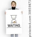 Hourglass Sandglass Timer Icon Word 30659873