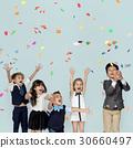 Children Smiling Happiness Friendship Togetherness Celebration Studio Portrait 30660497
