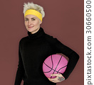 Woman Smiling Happiness Basketball Sport Portrait 30660500