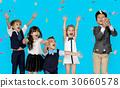Children Smiling Happiness Friendship Togetherness Celebration Studio Portrait 30660578