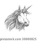 Unicorn horse animal vector sketch 30660825