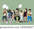 Group of students educated child development 30660867
