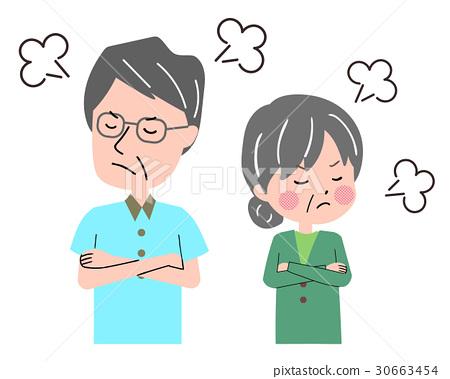 Elder couple fighting 30663454