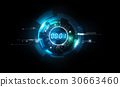 Abstract Futuristic Digital number Background 30663460