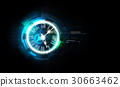 Abstract Futuristic Background with Clock concept 30663462