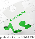 Business concept: Cross-Selling on puzzle 30664392