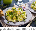 Green Avocado cucumber served healthy salad 30665337