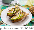 Avocado sandwich for healthy snack with seeds 30665342