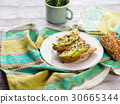 Avocado sandwich for healthy snack with seeds 30665344
