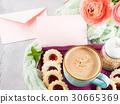 카드, 쿠키, 음료 30665369