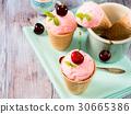 ice, cream, strawberry 30665386