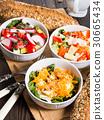Colorful vegetable salad bowl 30665434