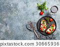 Crostini appetizers with cherry tomatoes, and 30665936