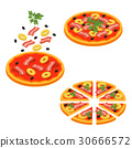 pizza, isometric, vector 30666572
