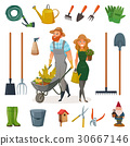 illustration, gardening, vector 30667146