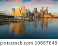 Morning day light after sunrise and singapore city 30667649