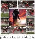 The collage about american football players 30668734