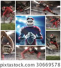 The collage about american football players 30669578
