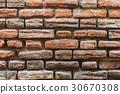 texture of a brick wall close-up 30670308