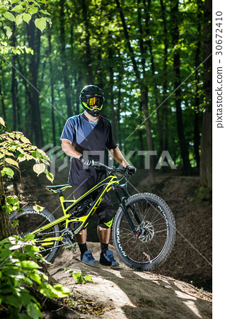 cyclist on a mountain bike 30672410