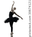 Ballerina dancer dancing woman  isolated silhouett 30674121