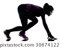 woman runner running jogger jogging isolated 30674122