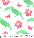 Tropical watercolor pattern 30676353