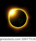 Eclipse of the sun and flare . Vector . 30677510