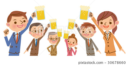 A toast with draft beer 30678660