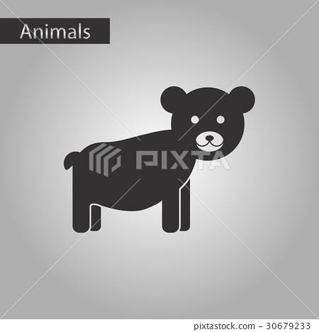 black and white style icon bear 30679233