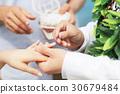婚禮 手 新郎新娘 30679484