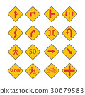 Set Traffic red signs vector 30679583