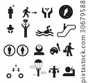 Sign of people life set.silhouette human activity 30679588
