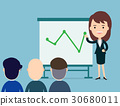 Business woman presents with board in seminar. 30680011