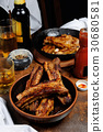 Fried pork ribs 30680581