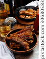 Fried pork ribs 30680583